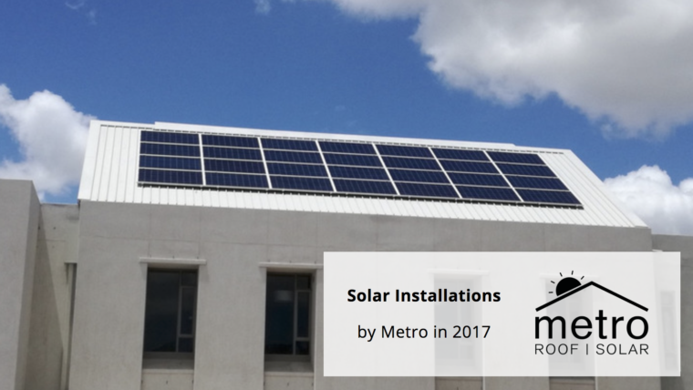 Use Metro for your solar installation in 2017