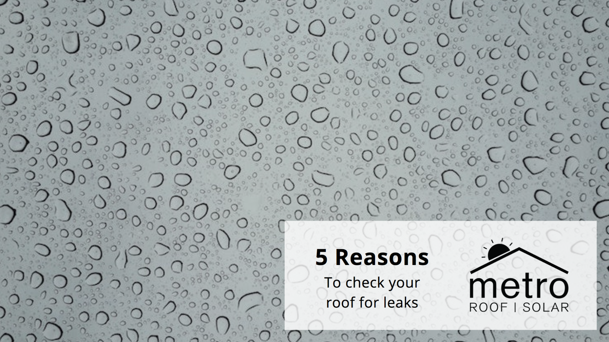 Check for leaks in your roof