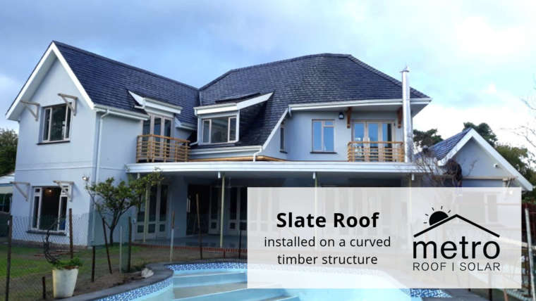 Slate Roof Installation on a Curved Timber Structure