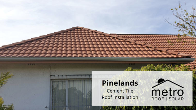 Cement Tile Roof Installation in Pinelands
